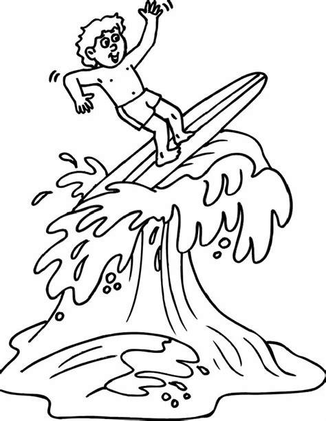 Kleurplaat Surfen by Kleuren Nu Surfen Op Het Water Kleurplaten