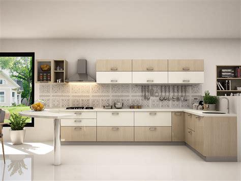 Ideas For New Kitchen - leah l shaped modular kitchen designs india homelane