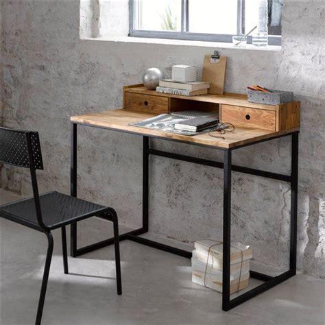 bureau hiba bureau métal et chêne rehausse hiba bureaux