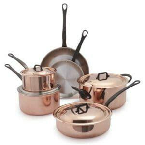 top   copper pots  pans sets  choice reviews