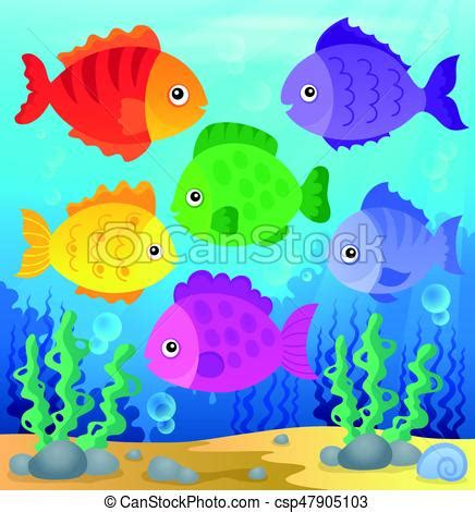 clipart pesci stilizzato pesci tema illustration