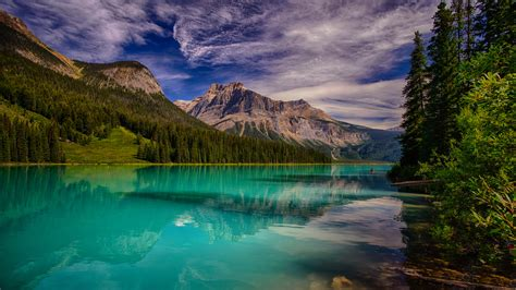 picture canada emerald lake yoho national park nature