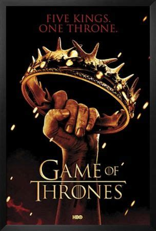 game  thrones crown  kings  throne tv poster