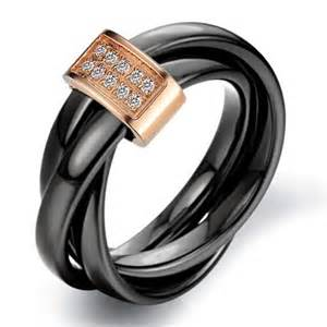 engravable wedding gifts women 39 s ceramic rolling wedding band ring black