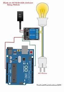 Blink Ac Bulb With Arduino Relay Module