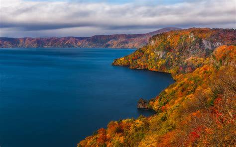 lake towada japan vivid autumn wallpapers lake towada