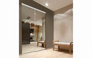 Porte Coulissante Miroir : portes pliantes et coulissantes miroir verre et panneaux ~ Carolinahurricanesstore.com Idées de Décoration