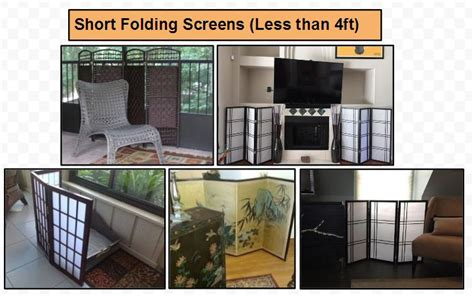 Short Folding Screens And Room Dividers Screens In Ft,ft