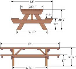 standard size picnic table outdoorlivingdecor