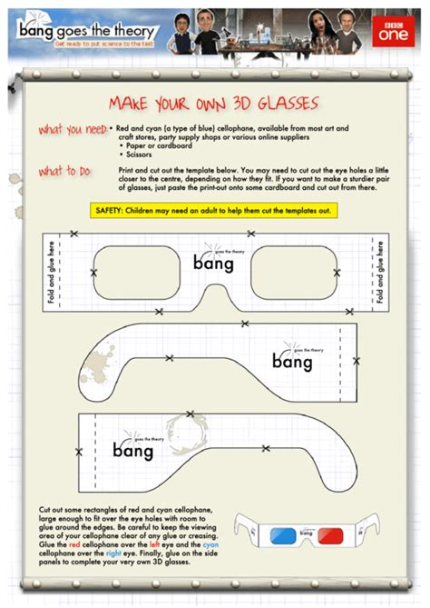 glasses template printable