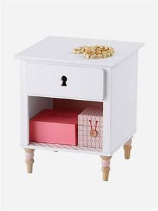 Table De Chevet Romantique : chevet ligne romantique blanc vertbaudet ~ Melissatoandfro.com Idées de Décoration