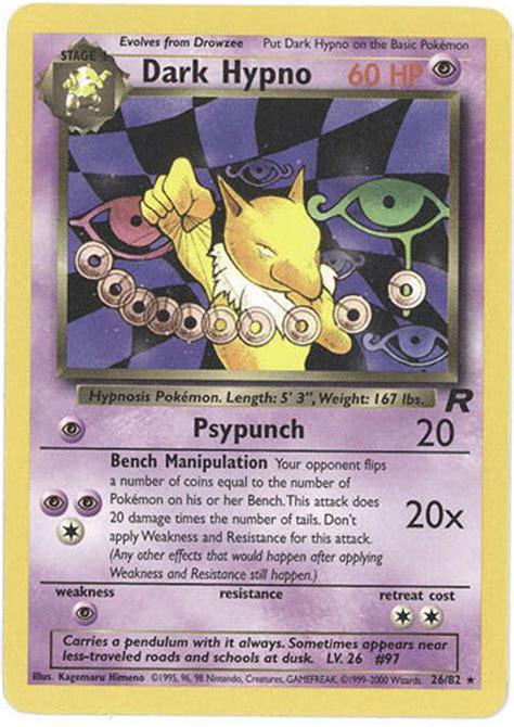 pokemon card team rocket 26 82 dark hypno rare