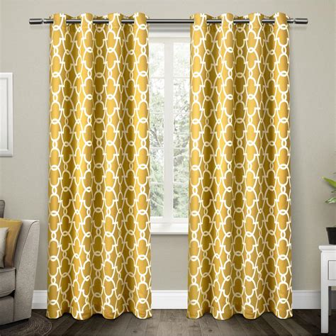yellow drapes gates sundress yellow sateen blackout thermal grommet top