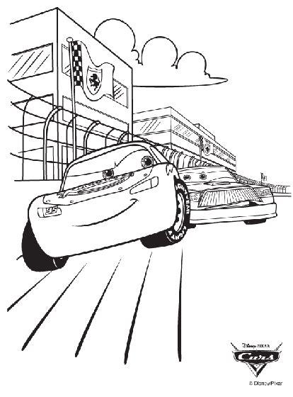 disney cars race coloring page crayolacom