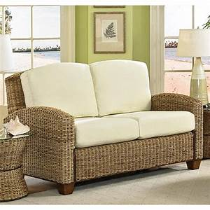 Wicker furniture isn39t just for outdoors it looks great for Cane furniture for living room