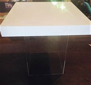 White-gloss-table-top-clear-perspex-plinth « Atmosphere Events