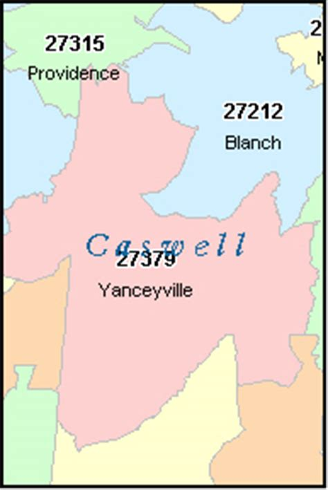 caswell county north carolina digital zip code map