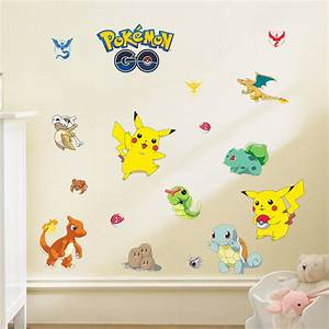 cartoon pokemon go wall stickers for kids rooms home decor With pokemon wall decals