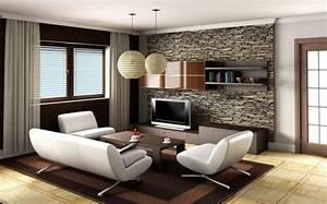Wohnzimmer Wände Gestalten : natursteinwand im wohnzimmer im landhausstil gestalten ~ Michelbontemps.com Haus und Dekorationen
