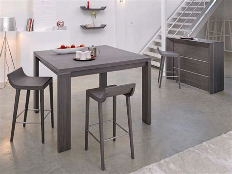 photo table et chaise de cuisine grise