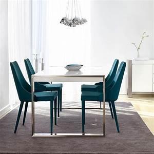 meubles contemporains pour salon et salle a manger design With deco cuisine avec chaise de salle a manger en tissus