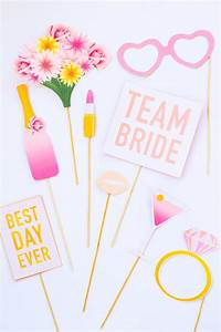 PRINTABLE BRIDAL SHOWER PHOTO BOOTH PROPS & HEN PARTY