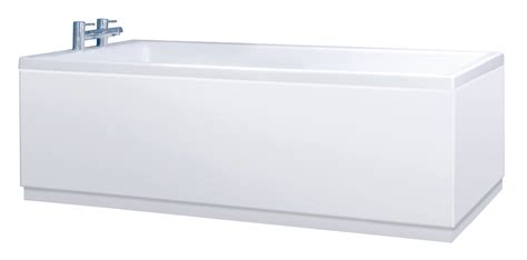 White Bath by Custom Size White Adjustable Bath Panel With Plinth