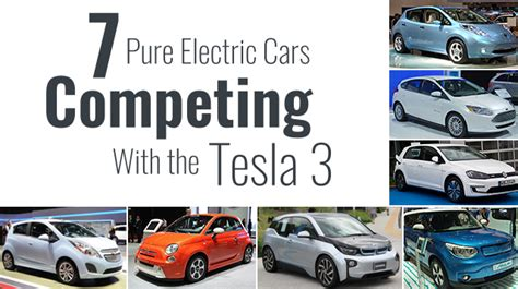 pure electric cars competing   tesla