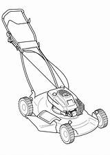 Mower Lawn Coloring Drawing Silhouette Vector Pages Riding Mowers Grasmachine Clip Mowing Kleurplaat Colouring Zero Turn Sheets Push Clipart Printable sketch template