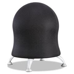 saf4750bl safco 174 zenergy ball chair 17 5 quot black silver