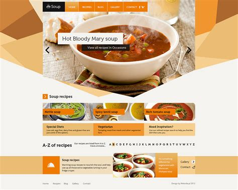 cuisine site 40 restaurant templates suitable for professional business
