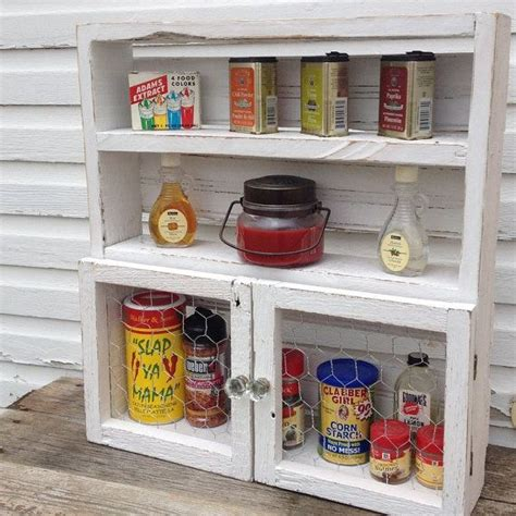 kitchen shelf organizers wood spice rack kitchen shelf chicken wire country cabinet 2534