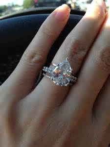 pear shaped engagement rings wedding pear shaped wedding ring 2045887 weddbook