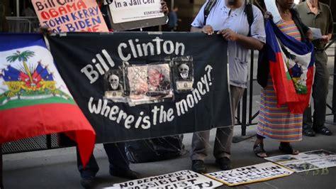 nyc haiti protest clintons missing billions  youtube