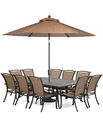 Macys Patio Dining Furniture by Paradise Outdoor 11 Set 84 Quot X 60 Quot Dining Table And