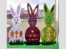 Osterhasen fürs Fenster Osternbasteln Meine Enkel und ich