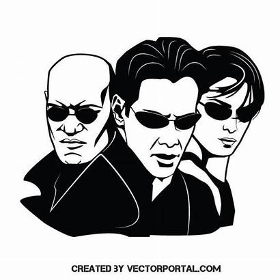 Matrix Vector Cast Stencil Silhouette Decal Drawings