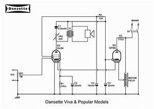 Dansette Workshop  A4 Circuit Diagrams For Major Deluxe