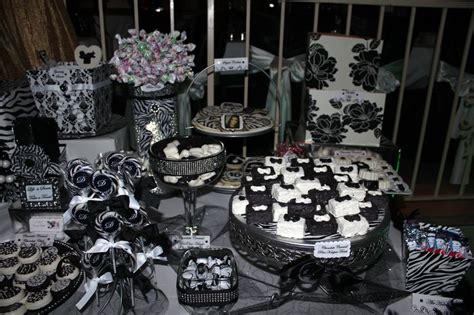 black and white candy table black white candy table black and white pinterest