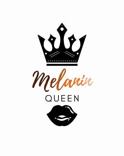 Melanin Queen Printable African American Woman