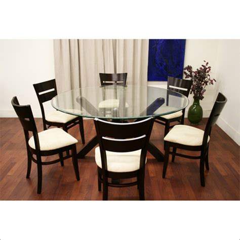 inspiring glass dining table and chairs set wholesale