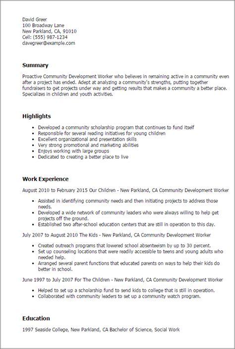 festival coordinator cover letter 1 community development worker resume templates try them