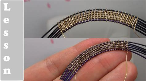 wire weaving wrapping style using 6 base wires complex tutorial demo youtube