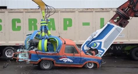 seahawks fans obliterated  ford bronco  heavy