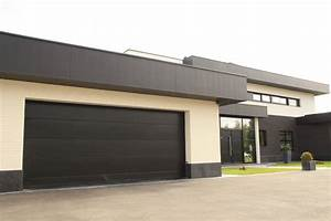 porte de garage sectionnelle 60mm extra isolante smf With porte de garage sectionnelle noire