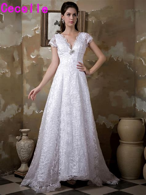 real images   lace modest wedding gowns