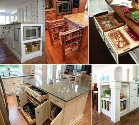 Clever Storage Ideas For Small Kitchens by 39 Clever Kitchen Island Designs With Storage