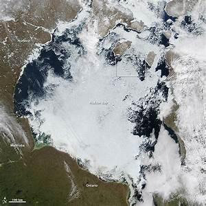 Ice Breakup On Hudson Bay