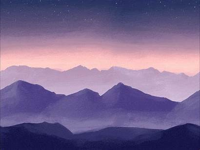 Mountains 2d Painted Background Dribbble Environment Looking
