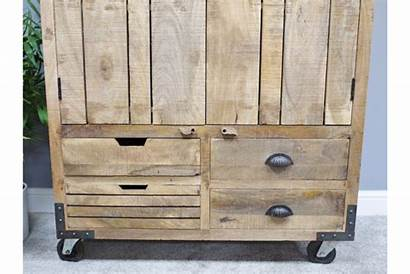 Drinks Cabinet Rustic Wooden Burnsall